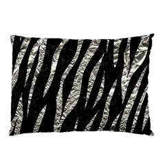 Skin3 Black Marble & Silver Foil (r) Pillow Case by trendistuff