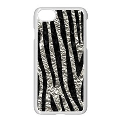 Skin4 Black Marble & Silver Foil (r) Apple Iphone 8 Seamless Case (white)
