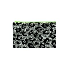 Skin5 Black Marble & Silver Foil (r) Cosmetic Bag (xs) by trendistuff