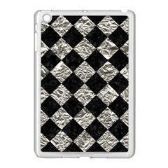 Square2 Black Marble & Silver Foil Apple Ipad Mini Case (white)