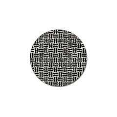 Woven1 Black Marble & Silver Foil Golf Ball Marker (4 Pack) by trendistuff