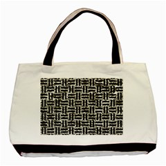 Woven1 Black Marble & Silver Foil Basic Tote Bag (two Sides) by trendistuff