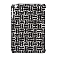 Woven1 Black Marble & Silver Foil Apple Ipad Mini Hardshell Case (compatible With Smart Cover) by trendistuff