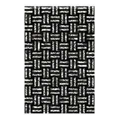 Woven1 Black Marble & Silver Foil (r) Shower Curtain 48  X 72  (small)  by trendistuff