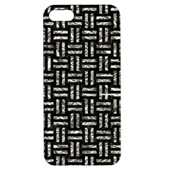 Woven1 Black Marble & Silver Foil (r) Apple Iphone 5 Hardshell Case With Stand by trendistuff