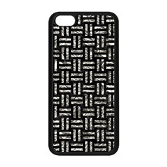 Woven1 Black Marble & Silver Foil (r) Apple Iphone 5c Seamless Case (black) by trendistuff