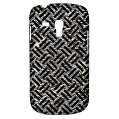 Woven2 Black Marble & Silver Foil Galaxy S3 Mini by trendistuff