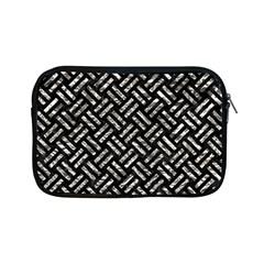 Woven2 Black Marble & Silver Foil (r) Apple Ipad Mini Zipper Cases by trendistuff
