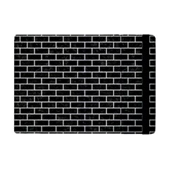 Brick1 Black Marble & Silver Glitter (r) Apple Ipad Mini Flip Case by trendistuff