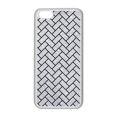 Brick2 Black Marble & Silver Glitter Apple Iphone 5c Seamless Case (white) by trendistuff