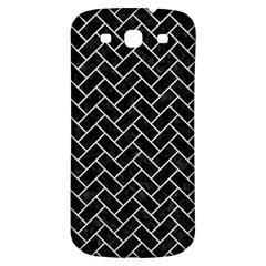 Brick2 Black Marble & Silver Glitter (r) Samsung Galaxy S3 S Iii Classic Hardshell Back Case by trendistuff