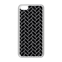 Brick2 Black Marble & Silver Glitter (r) Apple Iphone 5c Seamless Case (white) by trendistuff
