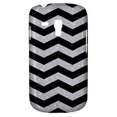 Chevron3 Black Marble & Silver Glitter Galaxy S3 Mini by trendistuff