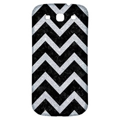 Chevron9 Black Marble & Silver Glitter (r) Samsung Galaxy S3 S Iii Classic Hardshell Back Case by trendistuff
