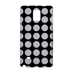 Circles1 Black Marble & Silver Glitter (r) Samsung Galaxy Note 4 Hardshell Case by trendistuff