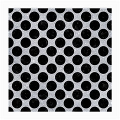 Circles2 Black Marble & Silver Glitter Medium Glasses Cloth by trendistuff