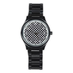 Circles3 Black Marble & Silver Glitter Stainless Steel Round Watch by trendistuff
