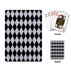 Diamond1 Black Marble & Silver Glitter Playing Card by trendistuff