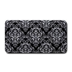 Damask1 Black Marble & Silver Glitter (r) Medium Bar Mats by trendistuff