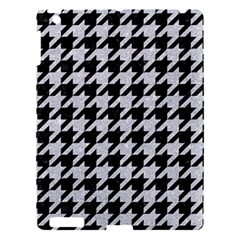 Houndstooth1 Black Marble & Silver Glitter Apple Ipad 3/4 Hardshell Case by trendistuff