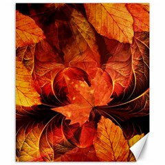 Ablaze With Beautiful Fractal Fall Colors Canvas 8  X 10  by beautifulfractals