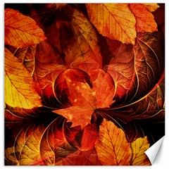 Ablaze With Beautiful Fractal Fall Colors Canvas 12  X 12   by jayaprime