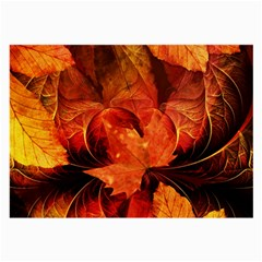 Ablaze With Beautiful Fractal Fall Colors Large Glasses Cloth by beautifulfractals