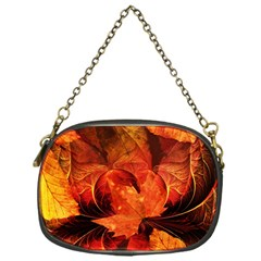 Ablaze With Beautiful Fractal Fall Colors Chain Purses (one Side)  by beautifulfractals