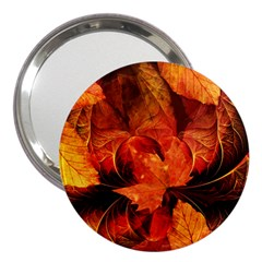 Ablaze With Beautiful Fractal Fall Colors 3  Handbag Mirrors by beautifulfractals