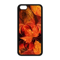 Ablaze With Beautiful Fractal Fall Colors Apple Iphone 5c Seamless Case (black) by beautifulfractals
