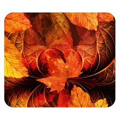 Ablaze With Beautiful Fractal Fall Colors Double Sided Flano Blanket (small)  by beautifulfractals