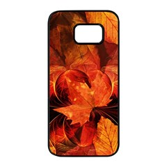 Ablaze With Beautiful Fractal Fall Colors Samsung Galaxy S7 Edge Black Seamless Case by jayaprime
