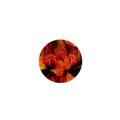 Ablaze With Beautiful Fractal Fall Colors 1  Mini Buttons by jayaprime