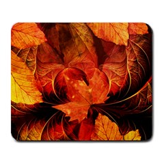 Ablaze With Beautiful Fractal Fall Colors Large Mousepads by beautifulfractals