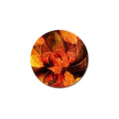 Ablaze With Beautiful Fractal Fall Colors Golf Ball Marker by beautifulfractals