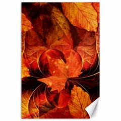 Ablaze With Beautiful Fractal Fall Colors Canvas 24  X 36  by beautifulfractals