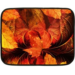 Ablaze With Beautiful Fractal Fall Colors Double Sided Fleece Blanket (mini)  by beautifulfractals