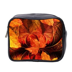 Ablaze With Beautiful Fractal Fall Colors Mini Toiletries Bag 2 Side by beautifulfractals