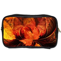 Ablaze With Beautiful Fractal Fall Colors Toiletries Bags 2 Side by beautifulfractals