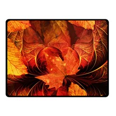Ablaze With Beautiful Fractal Fall Colors Fleece Blanket (small) by beautifulfractals