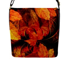 Ablaze With Beautiful Fractal Fall Colors Flap Messenger Bag (l)  by beautifulfractals