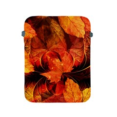 Ablaze With Beautiful Fractal Fall Colors Apple Ipad 2/3/4 Protective Soft Cases by jayaprime