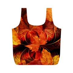 Ablaze With Beautiful Fractal Fall Colors Full Print Recycle Bags (m)  by jayaprime