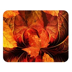 Ablaze With Beautiful Fractal Fall Colors Double Sided Flano Blanket (large)  by beautifulfractals