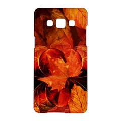 Ablaze With Beautiful Fractal Fall Colors Samsung Galaxy A5 Hardshell Case  by beautifulfractals
