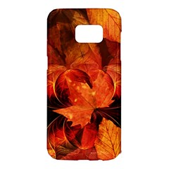 Ablaze With Beautiful Fractal Fall Colors Samsung Galaxy S7 Edge Hardshell Case by jayaprime