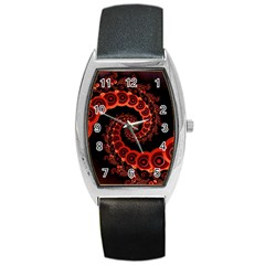 Chinese Lantern Festival For A Red Fractal Octopus Barrel Style Metal Watch by beautifulfractals