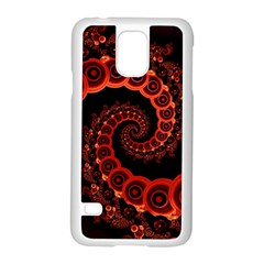 Chinese Lantern Festival For A Red Fractal Octopus Samsung Galaxy S5 Case (white) by jayaprime