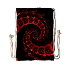 Chinese Lantern Festival For A Red Fractal Octopus Drawstring Bag (small) by beautifulfractals