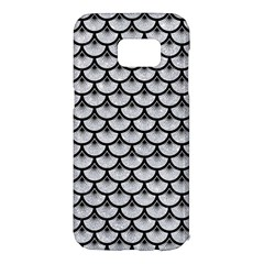 Scales3 Black Marble & Silver Glitter Samsung Galaxy S7 Edge Hardshell Case